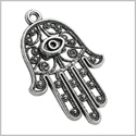 20 Pieces Large Hamsa Hand Judaica Powers Lucky Charms Finding Jewelry Pendants Necklace Making 42 X 28mm