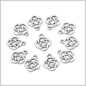 20 Pieces Celtic Shield Knot Lucky Charms Reversible Findings Jewelry Pendants Necklaces Making 15 X 18mm
