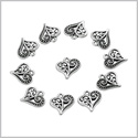 20 Pieces Cute Style Hearts Lucky Charms Reversible Findings Jewelry Pendants Necklaces Making 14 X 14mm