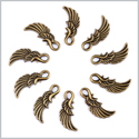 20 Pieces Guardian Angel Magic Wing Charms Findings for Jewelry Pendants Necklace Making 25mm X 10mm