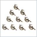 20 Pieces Guardian Angel Moon and Star Charms Findings for Jewelry Pendants Necklace Making 24mm X 14mm