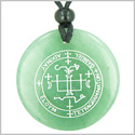 Sigil of the Archangel Gabriel Magical Amulet Amulet Green Aventurine Magic Gemstone Circle Spiritual Powers Pendant Necklace