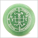 Sigil of the Archangel Gabriel Magical Amulet Amulet Green Aventurine Magic Gemstone Circle Spiritual Powers Keepsake Individual