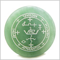 Sigil of the Archangel Michael Magical Amulet Green Aventurine Magic Gemstone Circle Spiritual Powers Keepsake Totem