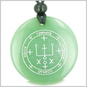 Sigil of the Archangel Raphael Magical Amulet Amulet Green Aventurine Magic Gemstone Circle Spiritual Powers Pendant Necklace