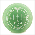 Sigil of the Archangel Raphael Magical Amulet Amulet Green Aventurine Magic Gemstone Circle Spiritual Powers Keepsake Totem
