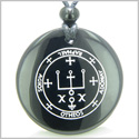 Sigil of the Archangel Raphael Magical Amulet Amulet Black Onyx Magic Gemstone Circle Spiritual Powers Pendant Necklace