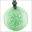 Sigil of the Archangel Thavael Magical Amulet Amulet Green Aventurine Magic Gemstone Circle Spiritual Powers Pendant Necklace