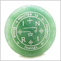 Sigil of the Archangel Thavael Magical Amulet Amulet Green Aventurine Magic Gemstone Circle Spiritual Powers Keepsake Totem