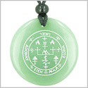 Sigil of the Archangel Uriel Magical Amulet Amulet Green Aventurine Magic Gemstone Circle Spiritual Powers Pendant Necklace