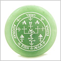 Sigil of the Archangel Uriel Magical Amulet Amulet Green Aventurine Magic Gemstone Circle Spiritual Powers Keepsake Totem
