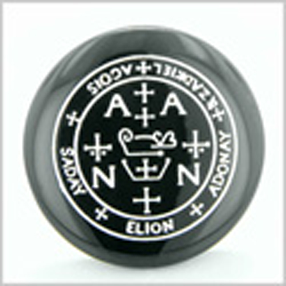 Sigil of the Archangel Zadkiel Magical Amulet Amulet Black Onyx Magic Gemstone Circle Spiritual Powers Keepsake Individual Totem