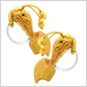Amulet Sandal Wood Axe Good Luck and Protection Powers Feng Shui Symbols Keychain Charm Set Blessings