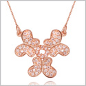 Unity Powers Magical Butterflies and Eternity Circle Amulet Gold-Tone Sparkling Crystals 18 Inch Necklace