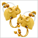 Amulet Cute Baby Elephant Good Luck Charm Protection Powers Feng Shui Magical Keychain Set Blessings