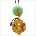 Magic Bat Fortune Car Charm or Home Decor Green Quartz Lucky Coin Donut Protection Powers Amulet