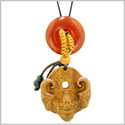 Magic Bat Fortune Car Charm or Home Decor Carnelian Lucky Coin Donut Protection Powers Amulet