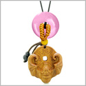 Magic Bat Fortune Car Charm or Home Decor Pink Simulated Cats Eye Lucky Coin Donut Protection Amulet