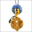 Magic Bat Fortune Car Charm or Home Decor Sodalite Lucky Coin Donut Protection Powers Amulet