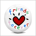 12 Pieces DIY Reversible Ceramic Handcrafted Best Friends Forever Happy Heart 21mm Beads with Large Hole