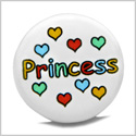 12 Pieces DIY Reversible Ceramic Handcrafted Princess and Hearts 21mm Beads with Large Hole