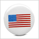 12 Pieces DIY Reversible Ceramic Handcrafted American Flag 21mm Beads with Large Hole