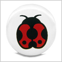12 Pieces DIY Reversible Ceramic Handcrafted Adorable Lady Bug 21mm Beads with Large Hole