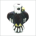 10 Pieces DIY 3D Ceramic Handcrafted Brave Courage American Eagle 8mm X 14mm 1.5mm Hole Painted Beads