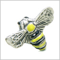 10 Pieces DIY 3D Ceramic Handcrafted Adorable Cute Bumble Bee 18mm X 22mm 2mm Hole Painted Beads