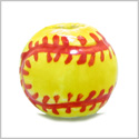 12 Pieces DIY 3D Ceramic Handcrafted 14mm Beautiful Soft Ball Large 3mm Hole Painted Sports Theme Beads