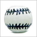 12 Pieces DIY 3D Ceramic Handcrafted 14mm Beautiful Baseball Large 3mm Hole Painted Sports Theme Beads