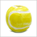 12 Pieces DIY 3D Ceramic Handcrafted 14mm Beautiful Tennis Ball Large 3mm Hole Painted Sports Theme Beads