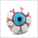 10 Pieces DIY Reversible Ceramic Handcrafted Cute Spooky Halloween Eyes 10mm Painted Beads