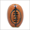 12 Pieces DIY 3D Ceramic Handcrafted 15X11mm American Football Large 3mm Hole Painted Sports Theme Beads