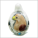 10 Pieces DIY Ceramic Handcrafted Amazing American Eagle Drop 26mm X 17mm 2mm Hole Painted Beads