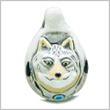 10 Pieces DIY Ceramic Handcrafted Amazing Brave Courage Wolf Drop 26mm X 17mm 2mm Hole Painted Beads