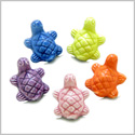 10 Pieces DIY 3D Ceramic Handcrafted Lucky Charms Sea Turtle 20mm X 16mm 1.5mm Hole Painted Mix Beads