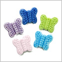 10 Pieces DIY 3D Ceramic Handcrafted Lucky Charms Butterflies 20mm X 18mm 1.5mm Hole Painted Mix Beads