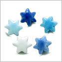 10 Pieces DIY 3D Ceramic Handcrafted Star of David Magical Lucky Charms 16mm Large Hole Painted Mix Beads