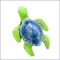 10 Pieces DIY 3D Ceramic Handcrafted Lucky Charms Sea Turtle Amulet 35mm X 25mm 2mm Hole Painted Beads