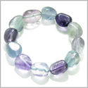 Amulet Tumbled Fluorite Crystals Aura Protection Powers Lucky Charm Gemstone Bracelet