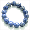 Amulet Tumbled Sodalite Crystals Good Luck and Protection Powers Lucky Charm Gemstone Bracelet