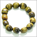 Amulet Tumbled Tiger Eye Crystals Evil Eye Protection Powers Lucky Charm Gemstone Bracelet