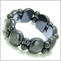 Amulet Happy Laughing Buddha Black Onyx Gemstone Spiritual and Good Luck Powers Bracelet