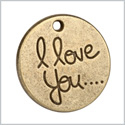 20 Pieces I Love You Reversible Inspirational Medallion Findings for Jewelry Pendant Necklace Making 20mm