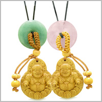 LUCKY BUDDHA WOODEN Car Charms