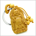 Amulet Laughing Buddha Blooming Lotus Magic Protection Powers Charms Feng  Shui Symbols Keychain Blessing