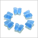 10 Pieces Sea Glass Cloud Blue Lucky Butterfly Beads Wholesale Components DIY Jewelry Making Arts