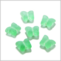 10 Pieces Sea Glass Neon Green Lucky Butterfly Beads Wholesale Components DIY Jewelry Making Arts