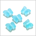 10 Pieces Sea Glass Sky Blue Lucky Butterfly Beads Wholesale Components DIY Jewelry Making Arts